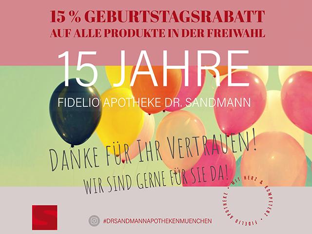 Fidelio Apotheke München 15 Jahre
